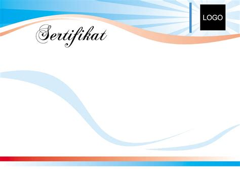 layout sertifikat coreldraw waves in shades of blue cascade on this printable