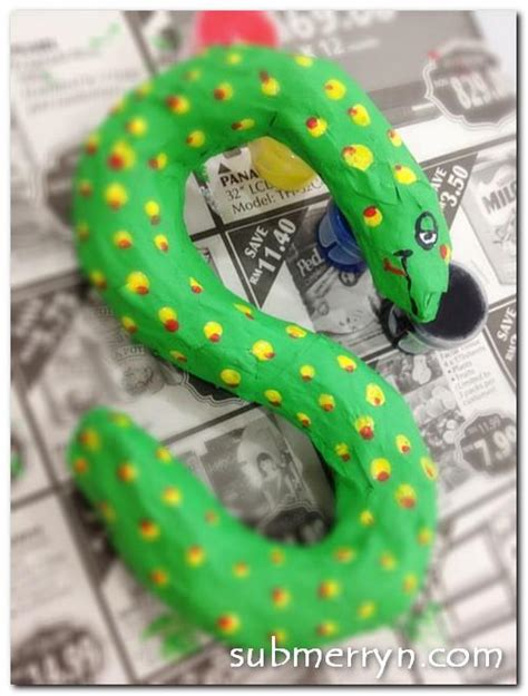 How To Make A 3d Snake Out Of Paper - crafty crafted crafts for children 187 craft from