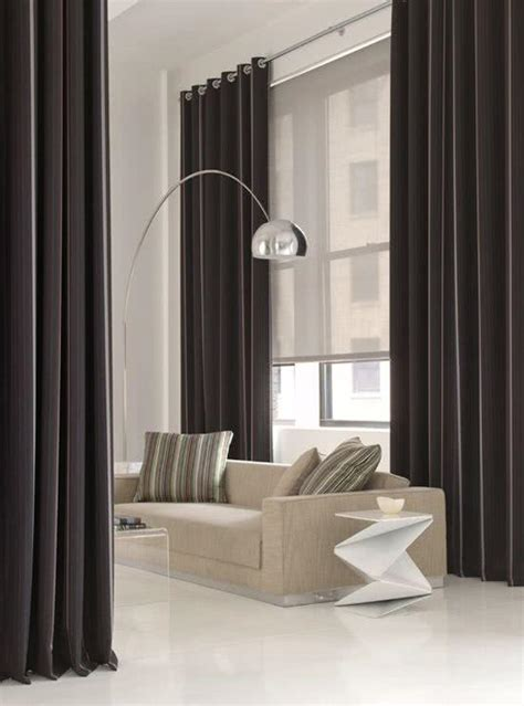 Ceiling To Floor Curtains by 41 Cortinas Para Salas De Estar Com Diferentes Cores