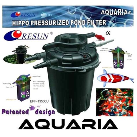 Jual Filter Aquarium Resun jual resun filter kolam external resun hippo pressurized