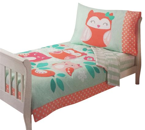 toddler bedding carters owls toddler bedding set to hoot bed contemporary toddler bedding by obedding