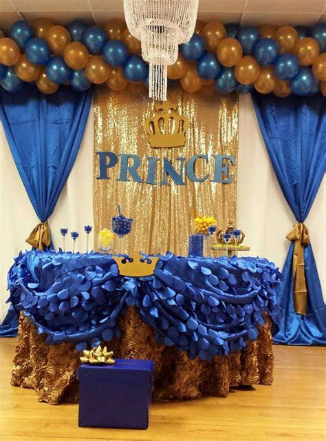 Royal Blue And Gold Decorations by Royal Blue Quot Prence Baby Shower Ideas Baby Shower