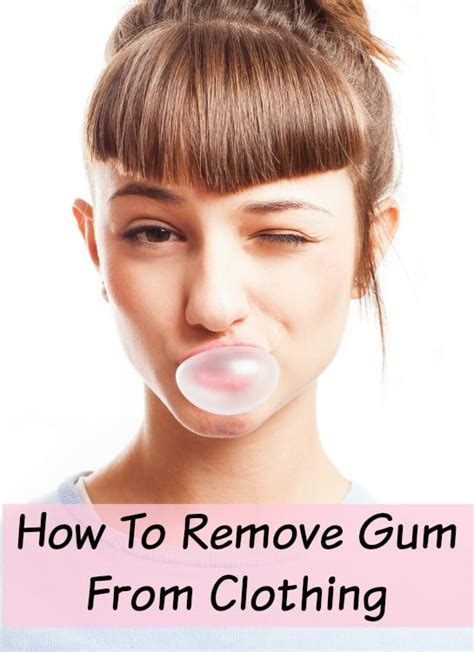Remove Gum From by How To Remove Gum From Clothing