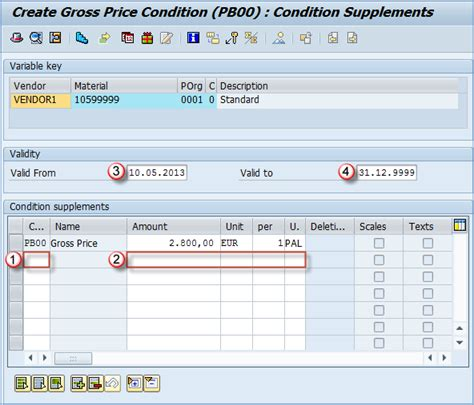 Info Records Me11 How To Create A Purchase Info Record In Sap