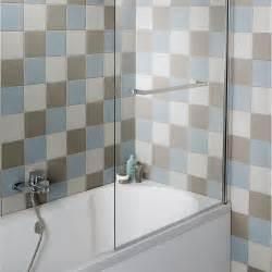 pare baignoire 1 volet verre de s 233 curit 233 6 mm transparent
