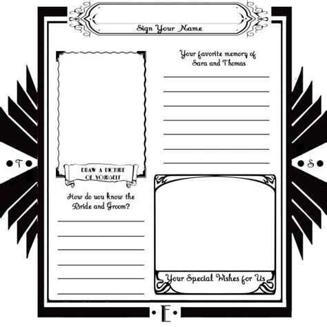 diy wedding guest book template diy deco guestbook weddingbee photo gallery