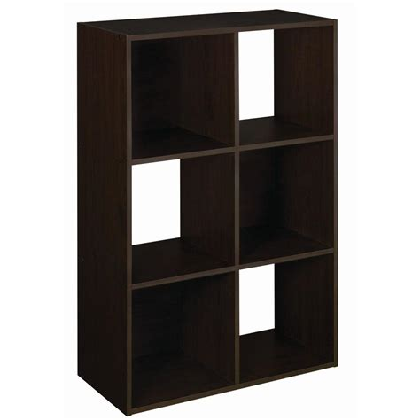 stackable closet organizers closetmaid 24 in w x 36 in h espresso stackable 6 cube