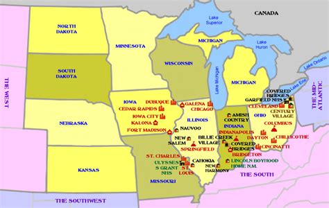 map usa midwest image gallery midwest usa