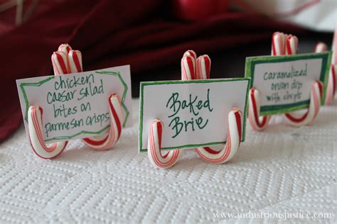 10 ideas for christmas place card holders the bright industrious justice how candy cane place card holders