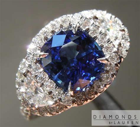 Bue Sapphire 17 25ct 2 27ct blue cushion sapphire ring