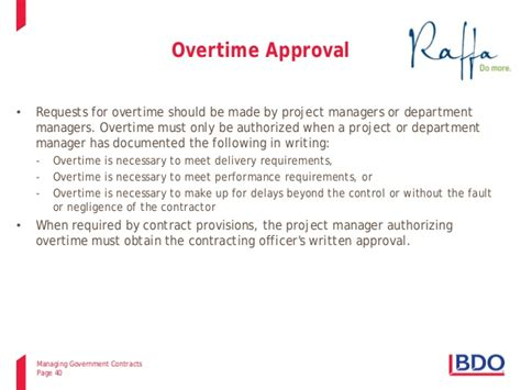Overtime Payment Request Letter 2014 10 15 Managing Government Contracts