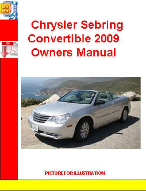 chrysler sebring convertible 2009 owners manual download manuals