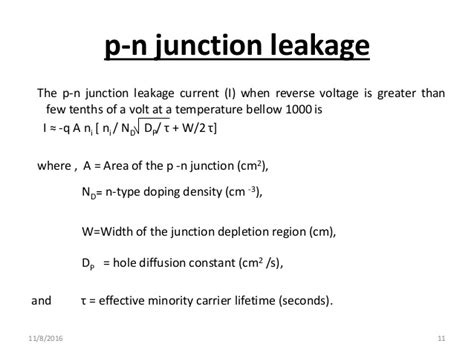 pn junction leakage current temperature sic for high temperature applications