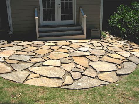 backyard flagstone 33 stone patio ideas pictures designing idea