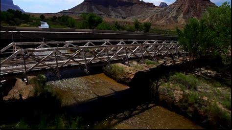 swinging bridge utah swinging bridge san rafael swell utah youtube