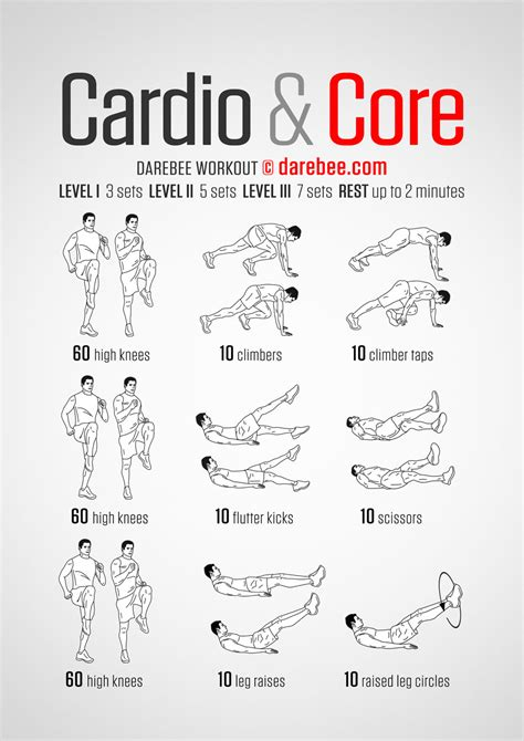 cardio darebee workout exercises