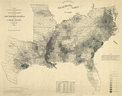 map of the united states slavery map of the last u s slave census 1860 sociological images