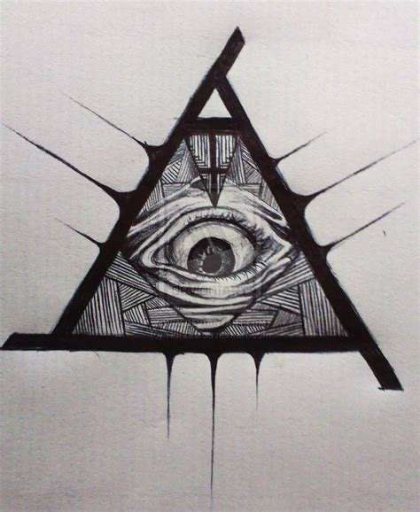 how to a seeing eye illuminati all seeing eye drawing
