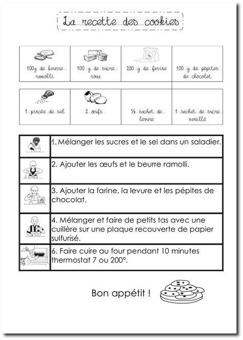 La recette des cookies | Recette en dessin | Pinterest