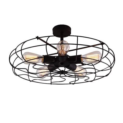 industrial semi flush mount lighting baycheer hl industrial vintage style v semi flush mount