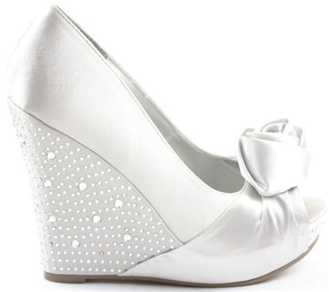 silver wedding shoes wedges silver wedge bridesmaid shoes comfortable and