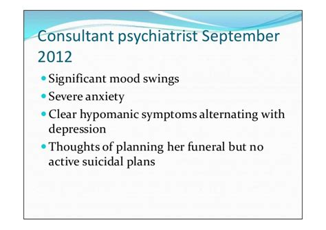 intense mood swings daily between a laugh and a tear case presentation on bipolar