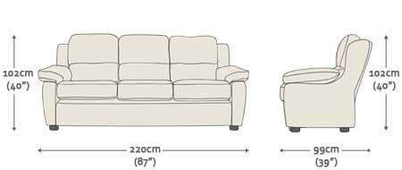 standard 3 seater sofa size sofa size elegant sofa height 30 for table ideas with