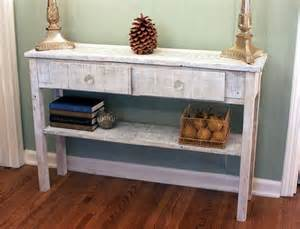 Hallway Entry Table Whitewashed Sofa Table White Hallway Table Whitewash Entry