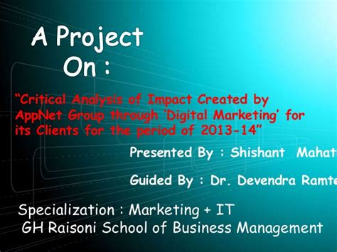 Why Get An Mba In Marketing by My Project Of Mba In Marketing