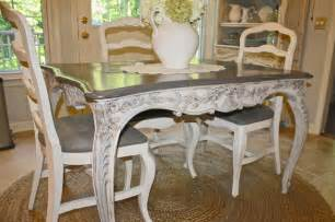French Kitchen Furniture Custom Painted French Country Antique Table Eclectic