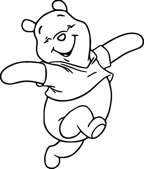 pooh coloring pages winnie the pooh happy coloring page