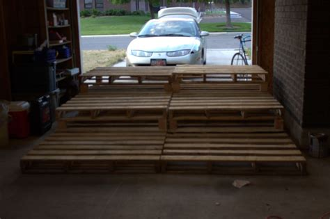pallet theater seating added feet