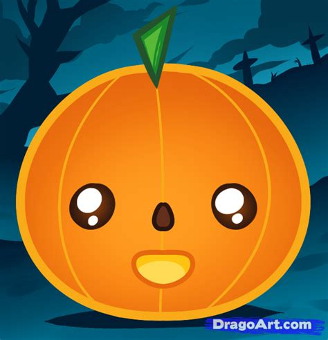 pumpkin drawing how to draw a pumpkin for step by step