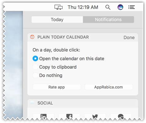 Calendar Calculator Add Business Days Plain Today Calendar Macos Notification Center
