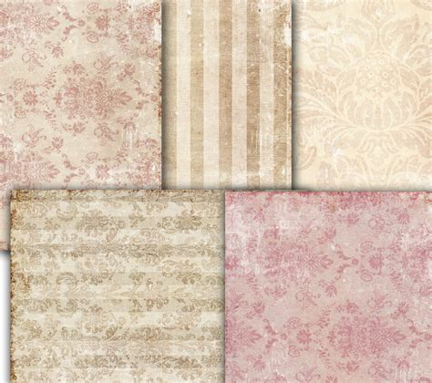 decoupage vintage wallpaper damask shabby chic by