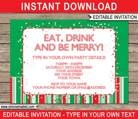 Christmas Home Decorating Service christmas party invitations template holiday party