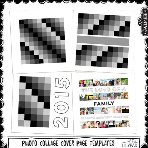 digital photo collage template photo collage cover page templates just jaimee