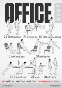 Office Chair Ab Workout Office Workout Infographic Will