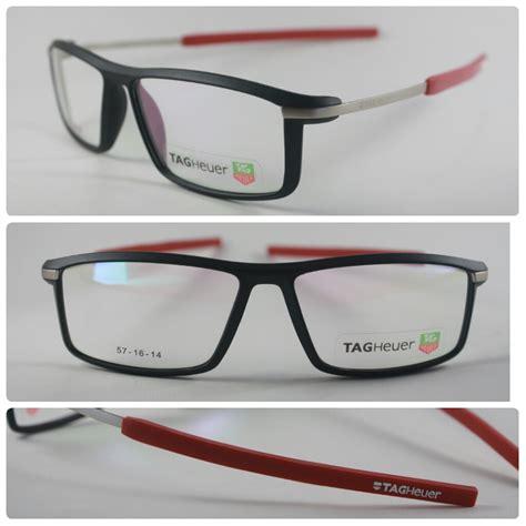 frame kacamata tag heuer 588 hitam merah pusat kacamata murah