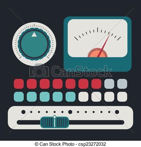 vectors of control panel in a flat design csp23272032