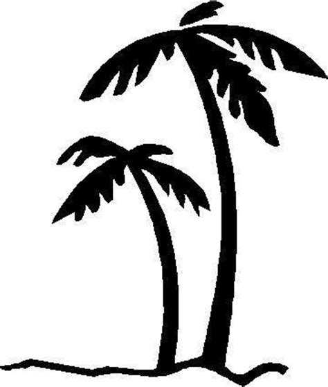Palm Tree Stencil Outline by Miscellaneous Decals Palm Tree Decal Sticker 02