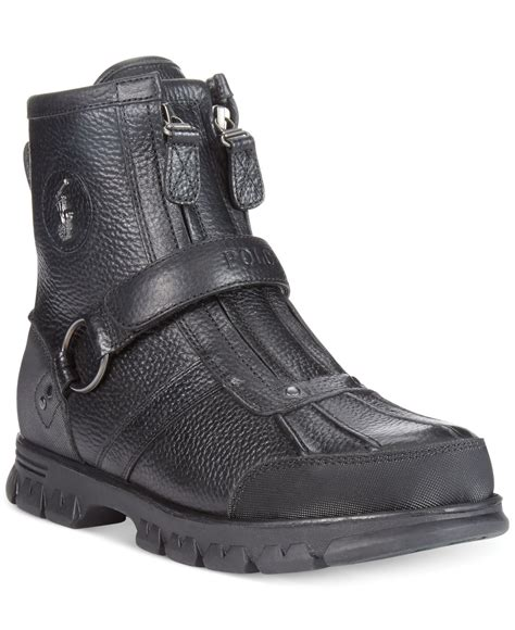 black polo boots polo ralph boots conquest iii high boots in black
