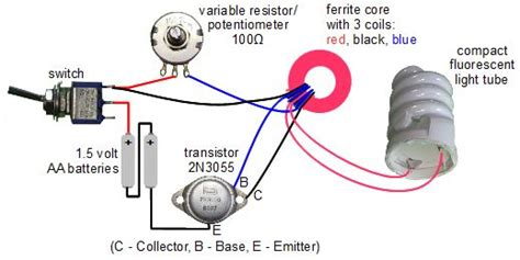 joules thief circuit diagram joule thief circuit powering a compact fluorescent lightbulb
