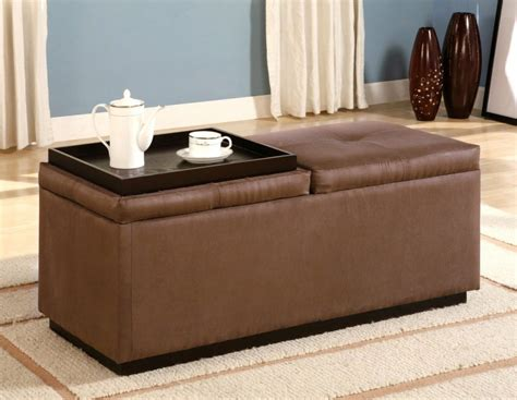 leather ottoman coffee table with storage furniture interior top brown leather ottoman coffee