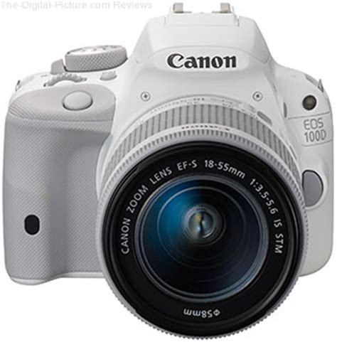 canon unveils white eos 100d and ef s 18 55mm f/3.5 5.6 is