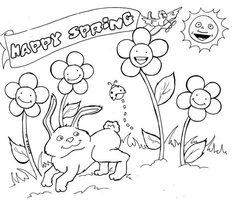 coloring ideas classy spring drawing ideas coloring pages flowers flower