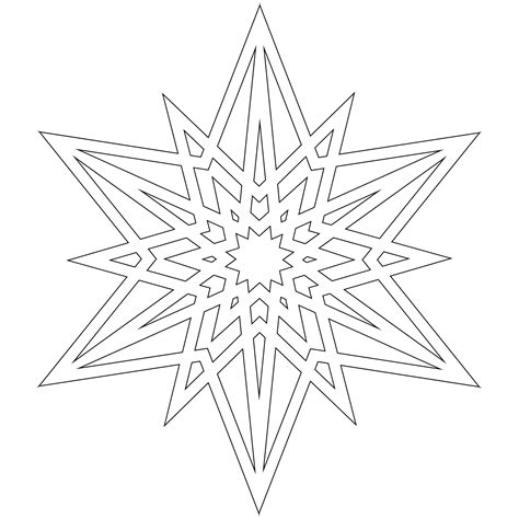 blank snowflake coloring page don t eat the paste a half dozen snowflakes to color
