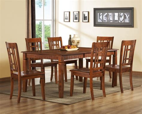 medium brown cherry modern dining table woptional side chairs