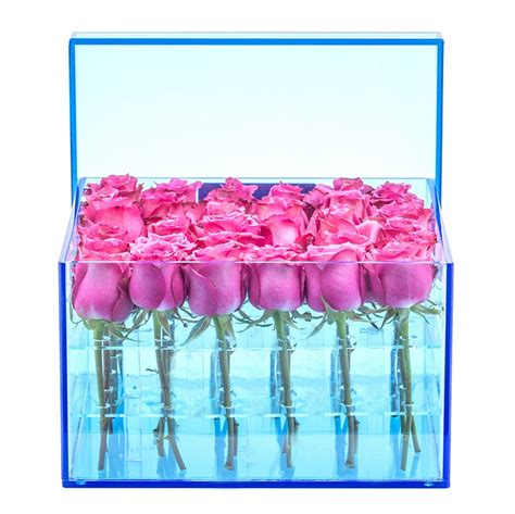Acrylic Kotak harga pabrik acrylic kotak bulat kotak bunga bunga grosir
