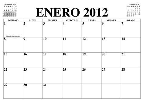 El Calendario 2012 Calendario Enero 2012 El Calendario Enero Para Imprimir
